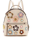 Fendi「FENDI Embellished floral-appliqué mini leather backpack(Backpack)」