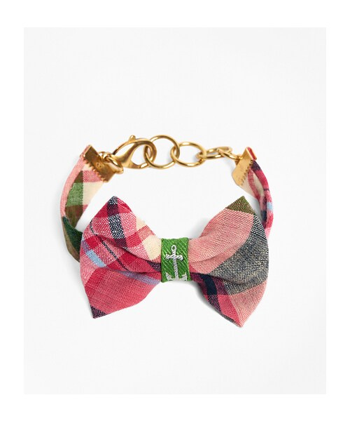 a6bb98302312 Brooks Brothers(ブルックスブラザーズ)の「Kiel James Patrick Pink and Green Madras Bow  Bracelet(ブレスレット)」 - WEAR