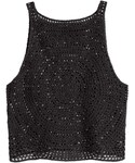 H&M「H&M - Crocheted Tank Top - Black - Ladies(Tank tops)」