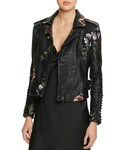 Blank NYC | BLANKNYC Studded Embroidered Faux Leather Motorcycle Jacket - 100% Bloomingdale's Exclusive(Riders jacket)