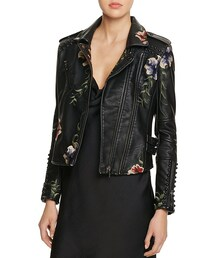 Blank NYC「BLANKNYC Studded Embroidered Faux Leather Motorcycle Jacket - 100% Bloomingdale's Exclusive(Riders jacket)」