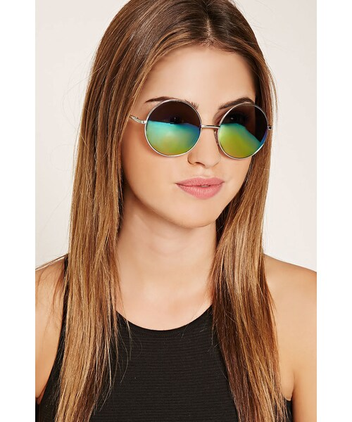d75316701 FOREVER 21,FOREVER 21 mirrored round sunglasses - WEAR