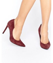 KENDALL + KYLIE「Kendall + Kylie Burgundy Suede Court Shoe(Pumps)」