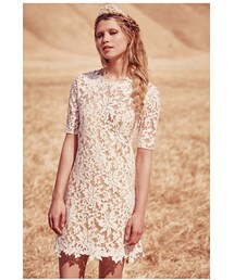 no brand「Grace Loves Lace x Free People Womens LUCIA MINI DRESS(One piece dress)」