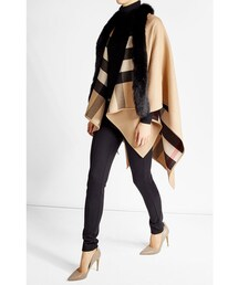 no brand「Burberry Shoes & Accessories Merino Wool Cape with Fox Fur(Outerwear)」