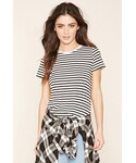 FOREVER 21「FOREVER 21 Classic Striped Tee(T Shirts)」