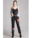 FOREVER 21「FOREVER 21+ Pixie and Diamond Floral Jeans(Denim pants)」