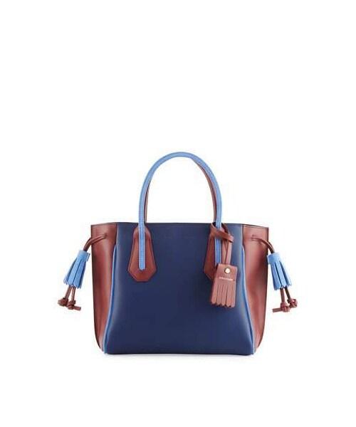 404566609b3b Longchamp(ロンシャン)の「Longchamp Penelope Tricolor Small Handbag,  Blue/Multi(ショルダーバッグ)」 - WEAR