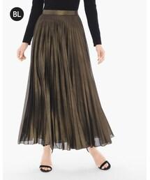 Chico's「Metallic Pleat Skirt(Skirt)」