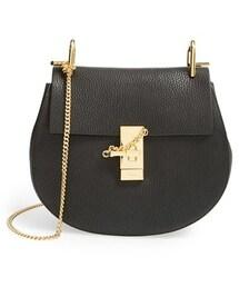 Chloe(クロエ)の「Chloe Small Drew Leather Shoulder Bag - Black(ショルダーバッグ)」
