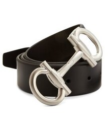 Salvatore Ferragamo「Salvatore Ferragamo Double Gancini Leather Belt(Belt)」