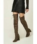 Forever 21「FOREVER 21+ Lace-Up Thigh-High Boots(Boots)」