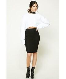 Forever 21「FOREVER 21+ Marled Fleece Skirt(Skirt)」