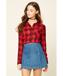Forever 21「FOREVER 21+ Button-Front Plaid Shirt(Shirts)」