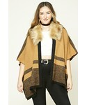 Forever 21「FOREVER 21+ Plus Size Faux Fur Shawl(Knitwear)」