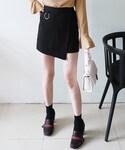 DHOLIC(ディーホリック)の「リングポイントアンバランスヘムタイトミニスカート(スカート)」
