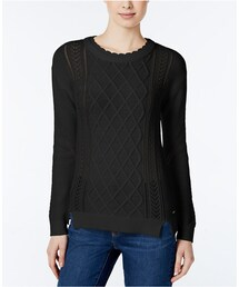 TOMMY HILFIGER「Tommy Hilfiger Dalia Cable-Knit Sweater, Only at Macy's(Knitwear)」