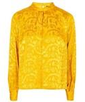 Topshop   Topshop Jacquard tuck neck blouse()
