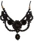 「GUCCI Bead-embellished velvet necklace」