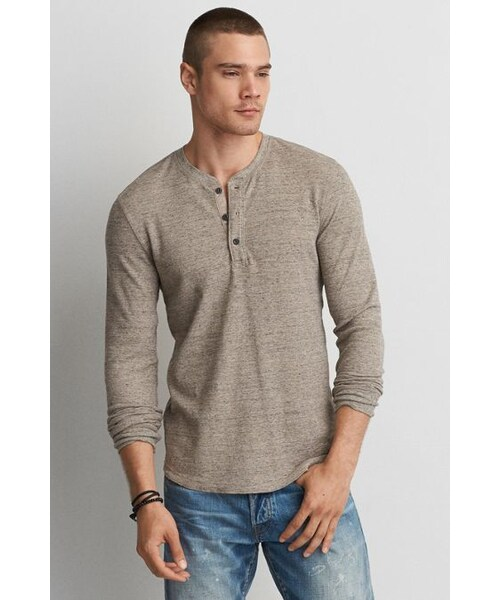 0c8b2f3c AMERICAN EAGLE OUTFITTERS,American Eagle Outfitters AE Active Flex Henley  Thermal