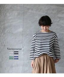 Veritecoeur(ヴェリテクール)の「Veritecoeur ヴェリテクール VCC-299 ボーダーロングスリーブ(Tシャツ・カットソー)」