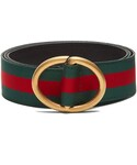 Gucci「GUCCI Oval-buckle Web-grosgrain belt(Belt)」