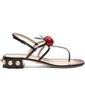 Gucci「GUCCI Hatsumomo cherry-embellished leather sandals(Other Shoes)」