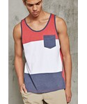 Forever 21「FOREVER 21+ Colorblock Pocket Tank Top(Tank tops)」