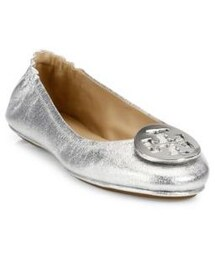 TORY BURCH「Tory Burch Minnie Travel Metallic Leather Ballet Flats(Shoes)」