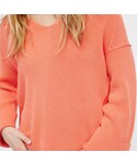 FREE PEOPLE「Over Size V neck Sweater / Coral(Knitwear)」