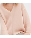 FREE PEOPLE「Over Size V neck Sweater / Peach(Knitwear)」