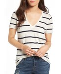 madewell「Women's Madewell Whisper Cotton V-Neck Pocket Tee(T Shirts)」
