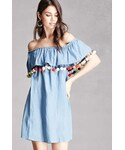 FOREVER 21「FOREVER 21+ Chambray Off-the-Shoulder Dress(One piece dress)」