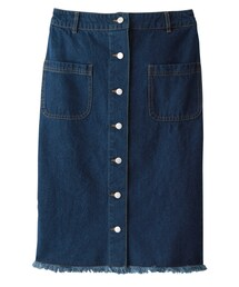 GRL(グレイル)の「前釦デニムタイトスカート(デニムスカート)」