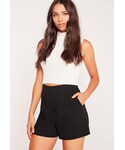Missguided「Front Pocket Tailored Shorts Black(Pants)」
