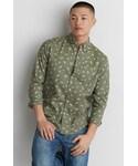 AMERICAN EAGLE OUTFITTERS | American Eagle Outfitters AE Classic Print Poplin Shirt(Shirts )