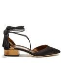 Jimmy Choo「JIMMY CHOO Duchess satin and leather sandals(Other Shoes)」