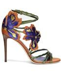 Jimmy Choo「JIMMY CHOO Lolita 100mm flower-appliqué leather sandals(Other Shoes)」