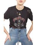Topshop | Women's Topshop Guns & Roses Nibbled Tee(T Shirts)