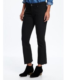 OLD NAVY「Black Flare Ankle Mid-Rise Jeans for Women(Denim pants)」