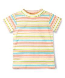 RADCHAP(ラッドチャップ)の「モックネックマルチボーダー半袖Tシャツ(Tシャツ・カットソー)」