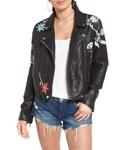 Blank NYC「Women's Blanknyc Painted Faux Leather Moto Jacket(Riders jacket)」