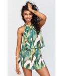 MUMU | Mateo Tie Back Top ~ Peachy Palm()