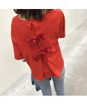 copine | ★再入荷★大人可愛いバッグリボンTシャツ・スウェット(3color)【クリックポスト送料無料】(Tシャツ・カットソー)