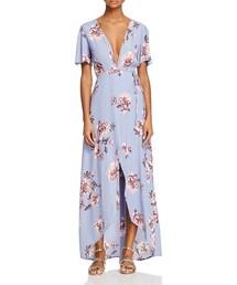 Astr「ASTR Selma Floral Wrap Maxi Dress(One piece dress)」