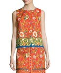 Tory Burch | Tory Burch Dayton Sleeveless Floral-Print Crop Top(T Shirts)