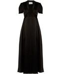 Valentino「VALENTINO Deep V-neck satin gown(One piece dress)」