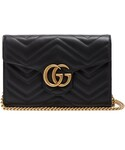Gucci「GUCCI GG Marmont quilted-leather cross-body bag(Clutch)」