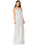 Halston「Halston Heritage Strapless Variegated Stripe Gown(One piece dress)」