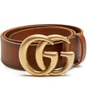 Gucci「GUCCI GG-logo 4cm leather belt(Belt)」